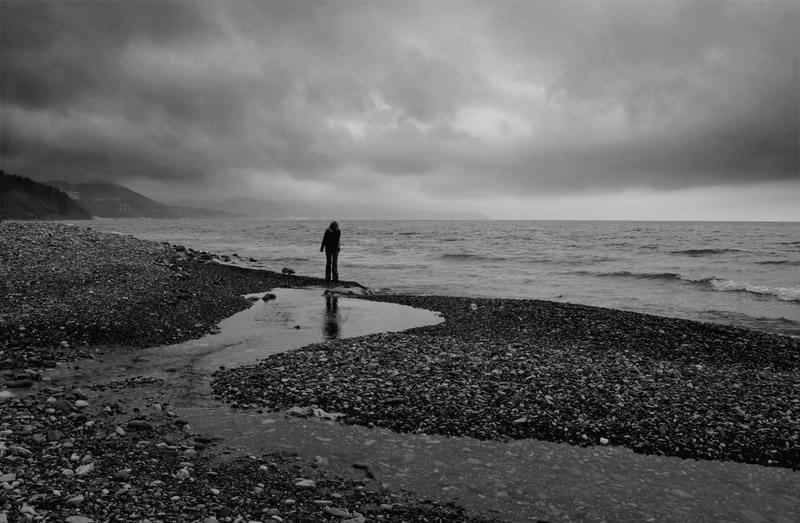 "фото ""море"" метки: пейзаж, черно-белые, вода"