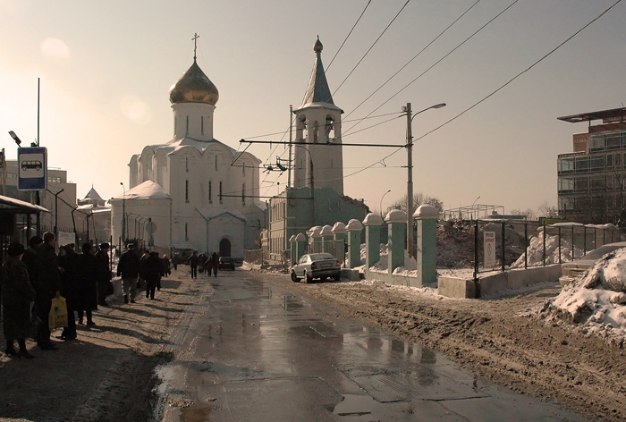 "photo ""Saint Nikolay chirch"" tags: architecture, landscape,"