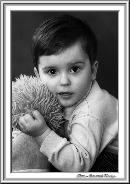 "photo ""Artem"" tags: portrait, black&white, children"