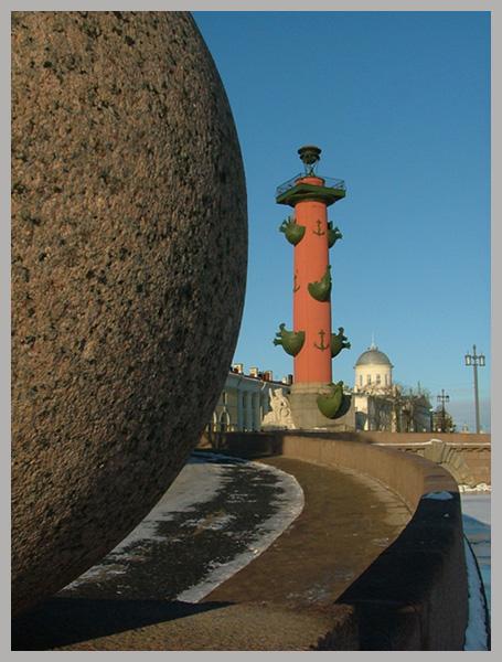 "фото ""Петербург - Васильевская стрелка - Колонна"" метки: архитектура, пейзаж,"