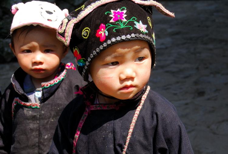 "photo ""2 lovely children of minority"" tags: portrait, travel, Asia, children"