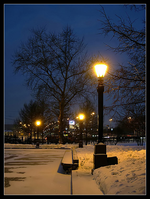 "photo ""Evening"" tags: landscape, night, winter"