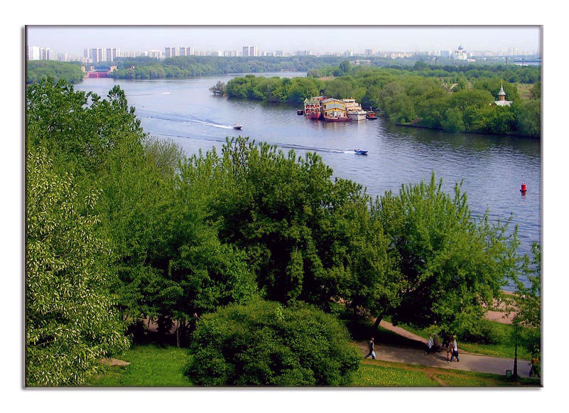 "photo ""Spring in Moscow-river"" tags: landscape, water"