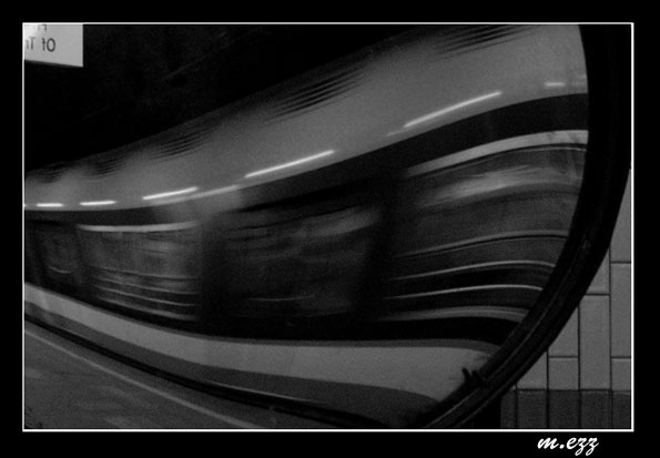 "photo ""The Underground"" tags: abstract, black&white,"