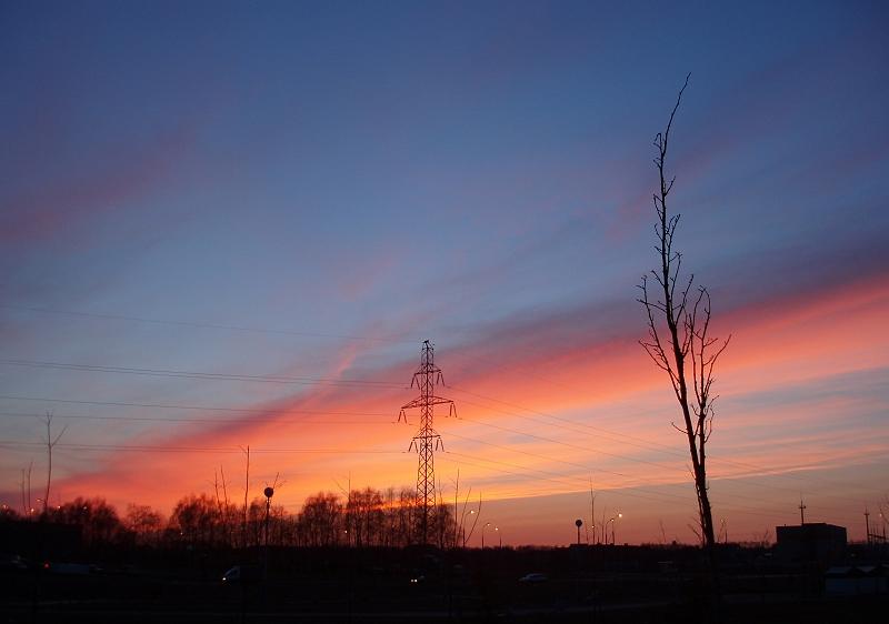 "фото ""Взлет без разгона"" метки: пейзаж, закат"