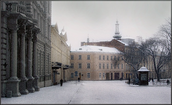 "photo ""The Lvov covered by a snow"" tags: architecture, landscape, winter"