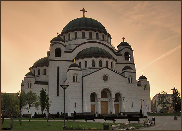 "photo ""St. Sava"" tags: architecture, landscape,"