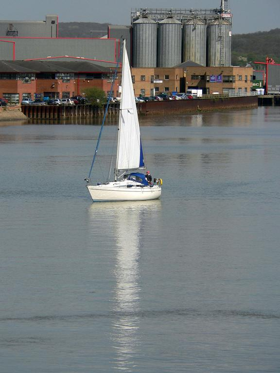 "photo ""Yacht reflection ..."" tags: landscape, misc., water"