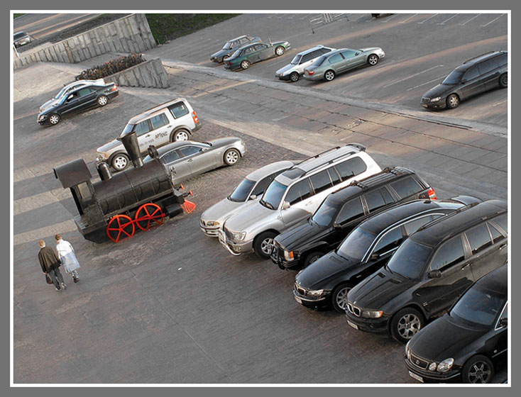 "photo ""Parking"" tags: genre, technics,"