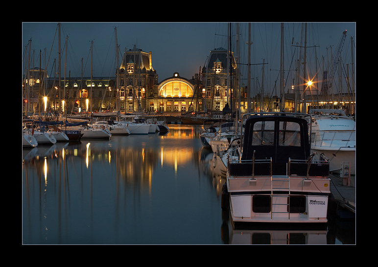 "photo ""City harbour (night)..."" tags: travel, landscape, Europe, water"
