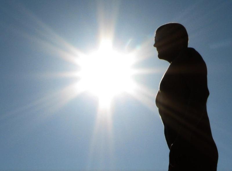 "photo ""sun and sky"" tags: nude, portrait, man"