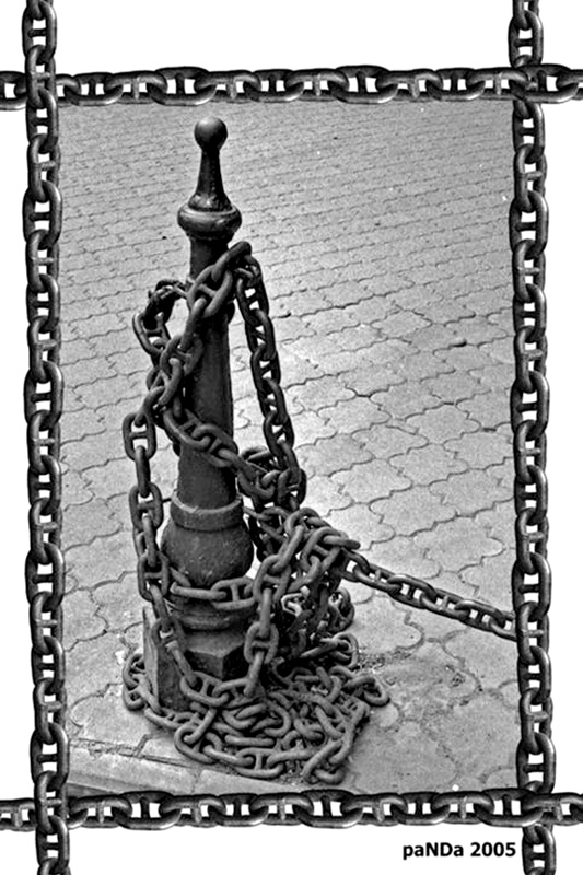 "фото ""Скованные одной цепью...Held down by one circuit..."" метки: черно-белые,"