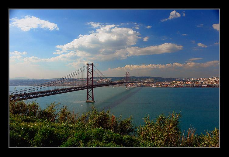 "photo ""Bridge to Lisbon"" tags: architecture, travel, landscape, Europe"