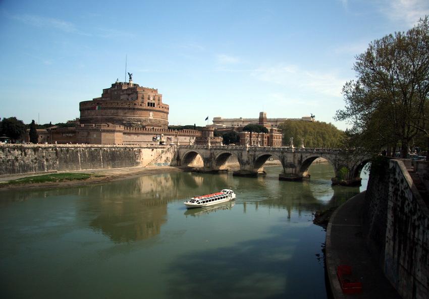 """photo """"Castel SntAngelo (Rome)"""" tags: landscape, travel,"""