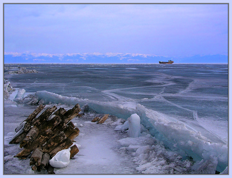 "photo ""April. Baikal."" tags: landscape, spring, water"