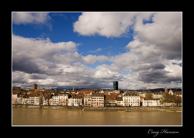 "photo ""Z'Basel am mym Rhy"" tags: travel, architecture, landscape, Europe"