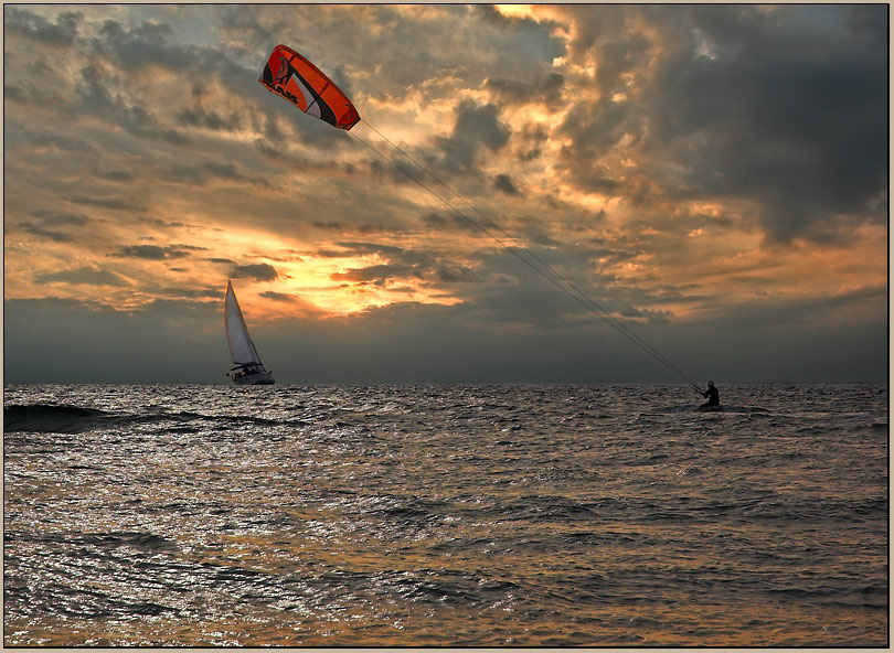 "photo ""Competition with wind."" tags: landscape, sunset"