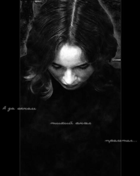 "photo ""silent angel"" tags: portrait, black&white, woman"