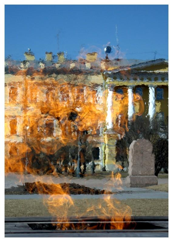 """фото """"Сквозь Вечный огонь"""" метки: архитектура, пейзаж,"""