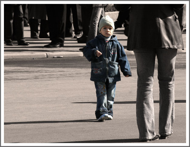 "photo ""one little man"" tags: reporting, genre,"