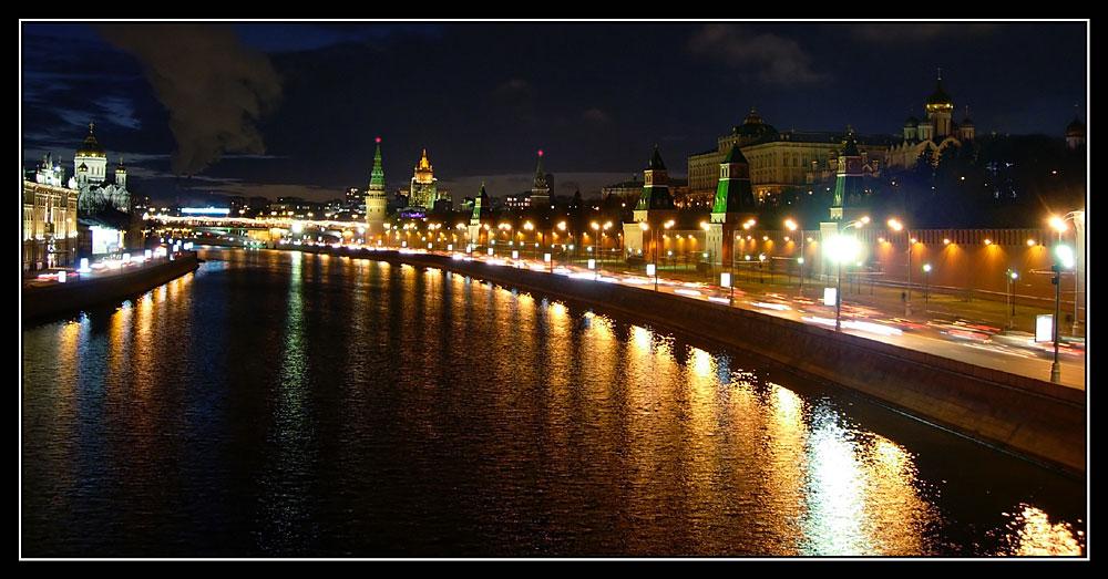 """фото """"Кремлёвская набережная"""" метки: пейзаж, ночь"""