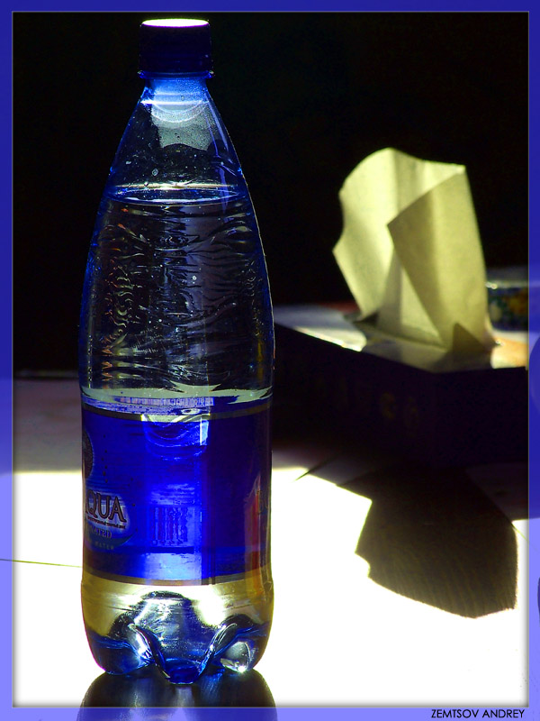 "photo ""Wipe sweat, have a drink..."" tags: still life, interior,"