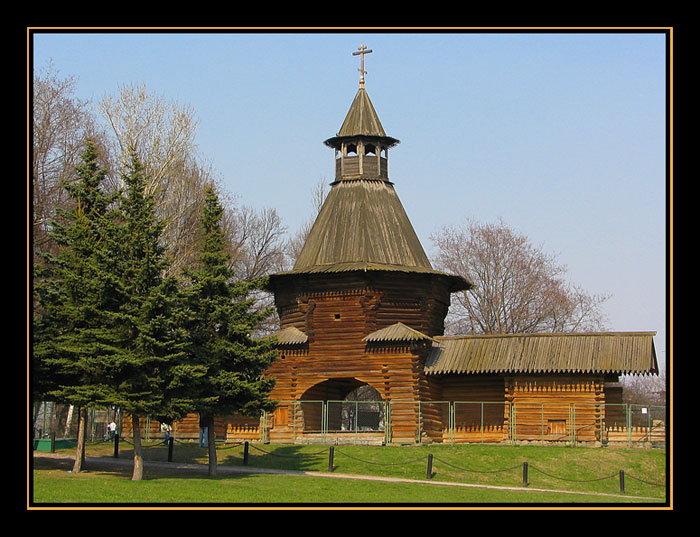 "photo ""Sacred gate Nikolo-Korel'skogo of a monastery"" tags: architecture, landscape,"