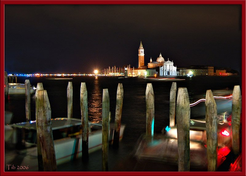 "photo ""Venice lights"" tags: landscape, travel, Europe, night"