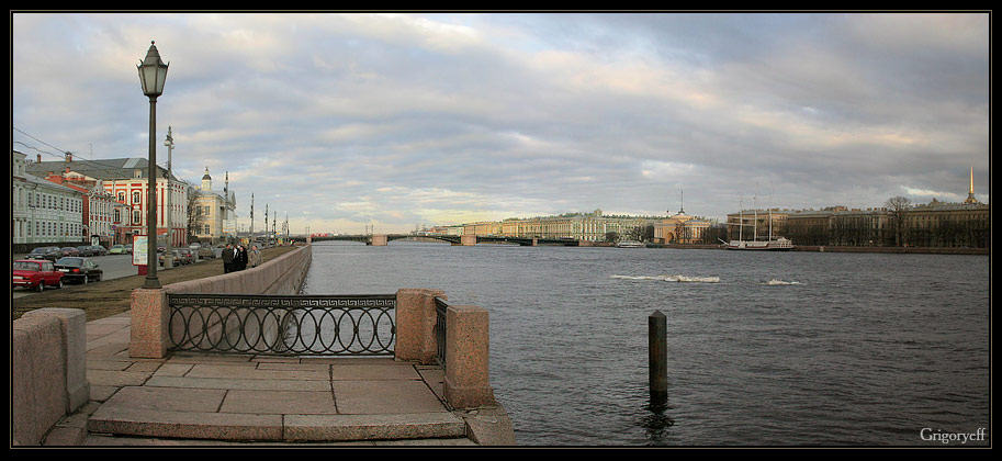 "photo ""Petersburg. Neva river. The May-ice"" tags: architecture, landscape, water"