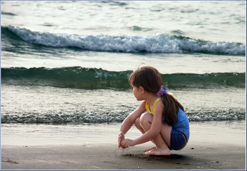 "photo ""Girl and sea"" tags: misc., landscape, water"