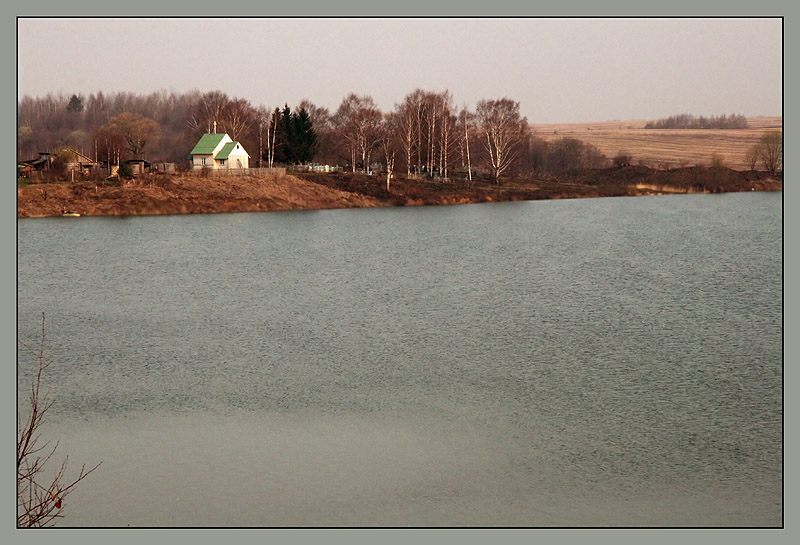 "photo ""Small house on coast"" tags: landscape, spring, water"