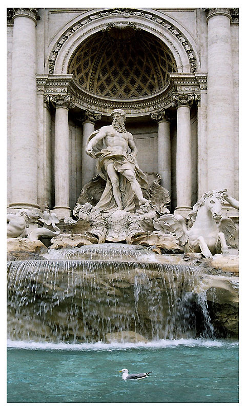 "photo ""La Fontana di Trevi"" tags: architecture, travel, landscape, Europe"