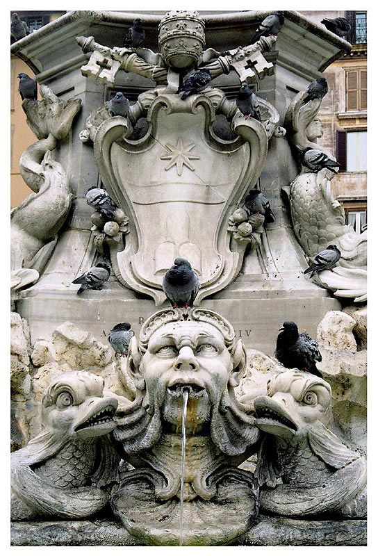 "photo ""La Fontana del Pantheon"" tags: architecture, travel, landscape, Europe"