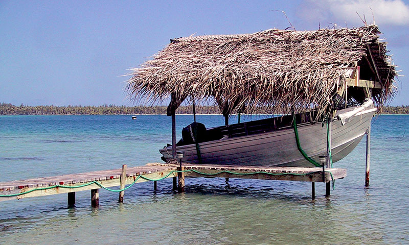 "photo ""Tahiti Boat Shelter"" tags: landscape, water"