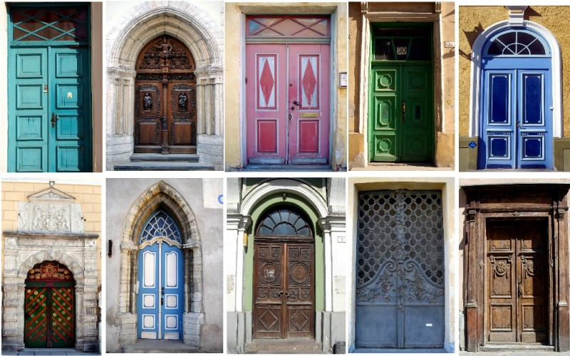 "photo ""tallin doors"" tags: architecture, landscape,"