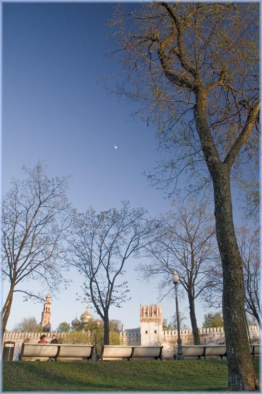 """photo """"Lunar evening"""" tags: architecture, landscape, sunset"""