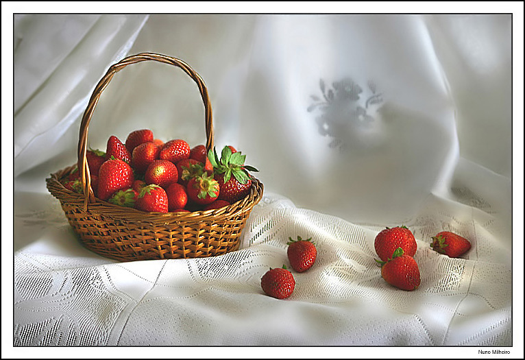 "photo ""Still life with strawberries"" tags: still life,"