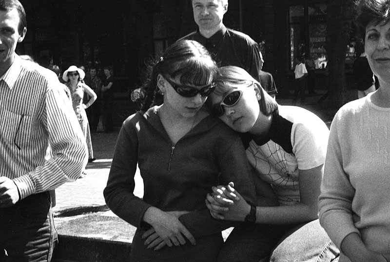 "photo ""girls from Kiev"" tags: portrait, black&white,"