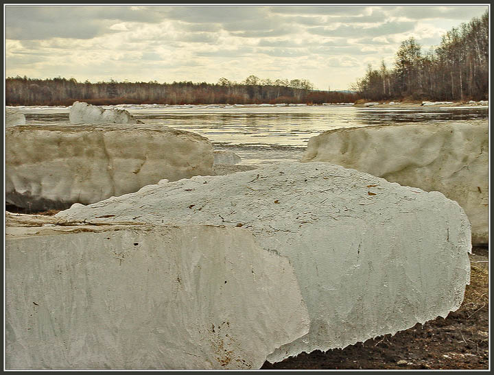 """photo """"Ice drift"""" tags: landscape, water"""