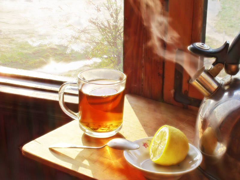 "photo ""Tea with a lemon"" tags: still life, landscape, summer"