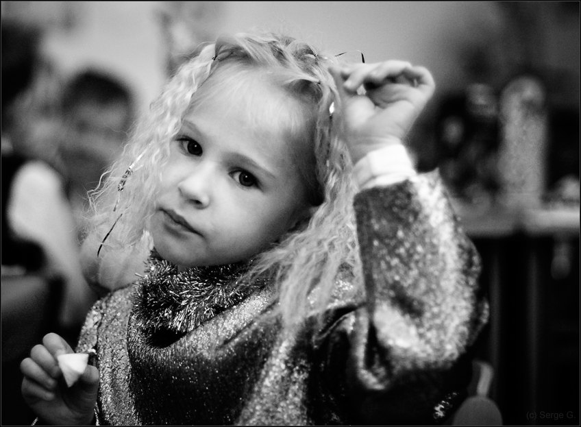 "photo ""***"" tags: portrait, black&white, children"