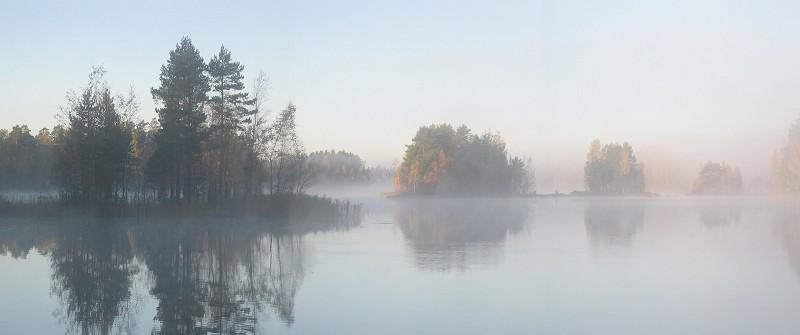 "фото ""Autumn's misty morning"" метки: пейзаж, вода, осень"