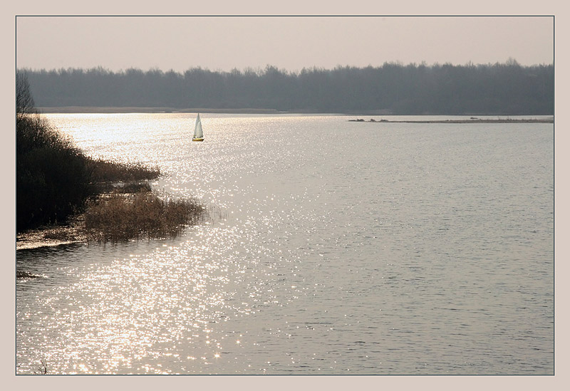 "photo ""The sail lonely grows white"" tags: landscape, spring, water"