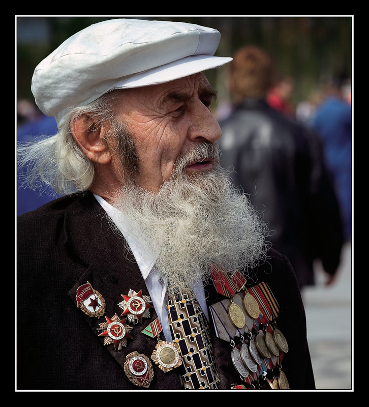 "photo ""The veteran of war of 1941-45 years"" tags: portrait, reporting, man"