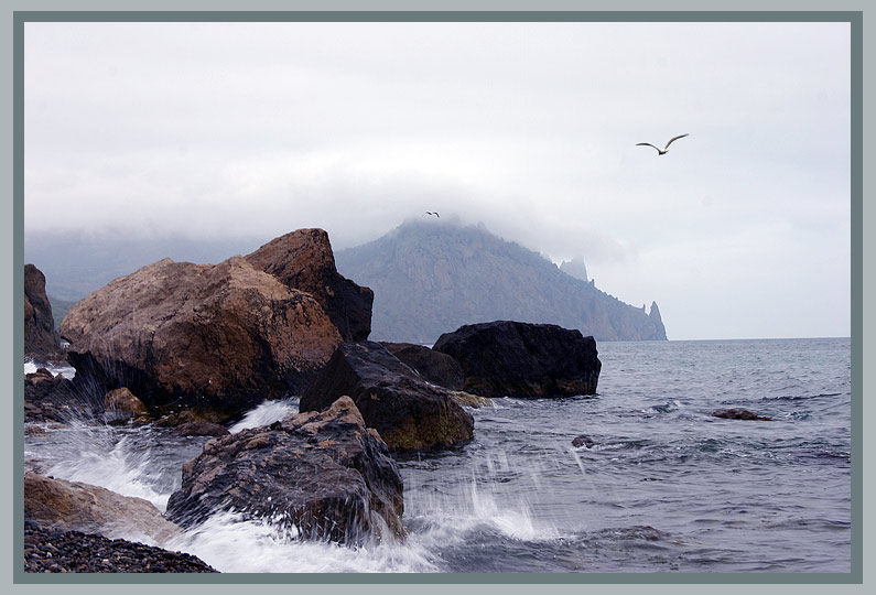 "photo ""Cloudy Kara-Dag view"" tags: landscape, mountains"