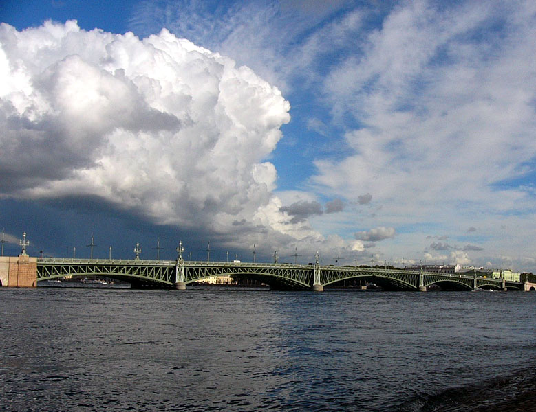 "photo ""Clouds above St.Petersburg"" tags: landscape, architecture, clouds"