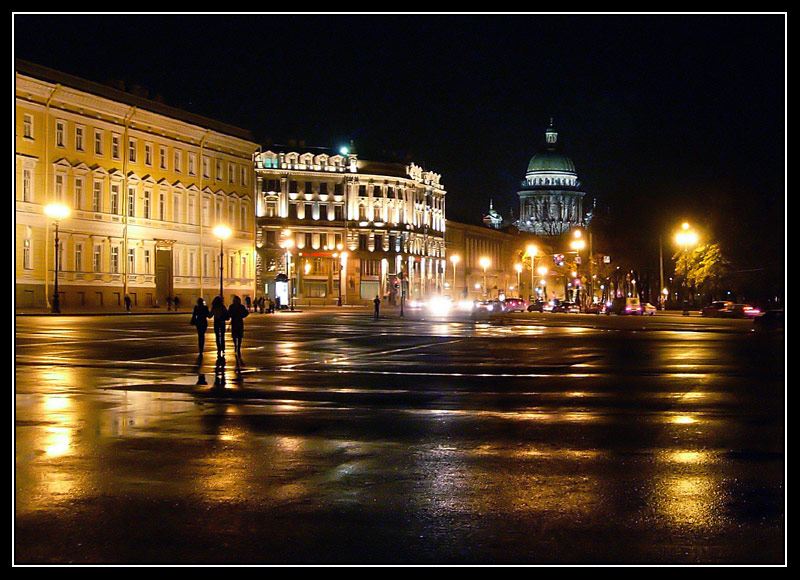 "photo ""Palace square"" tags: architecture, landscape, night"