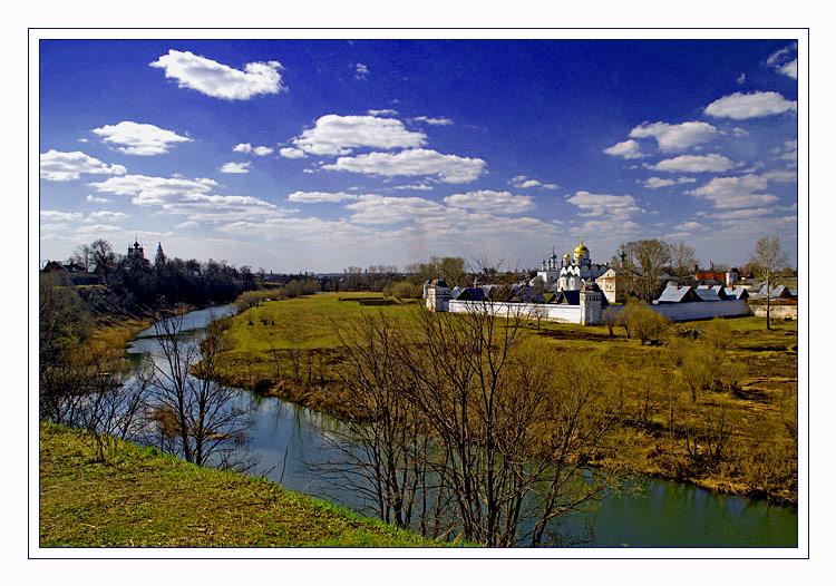 """фото """"вид на покровский монастырь г. суздаль с берега реки каменки"""" метки: архитектура, путешествия, пейзаж,"""
