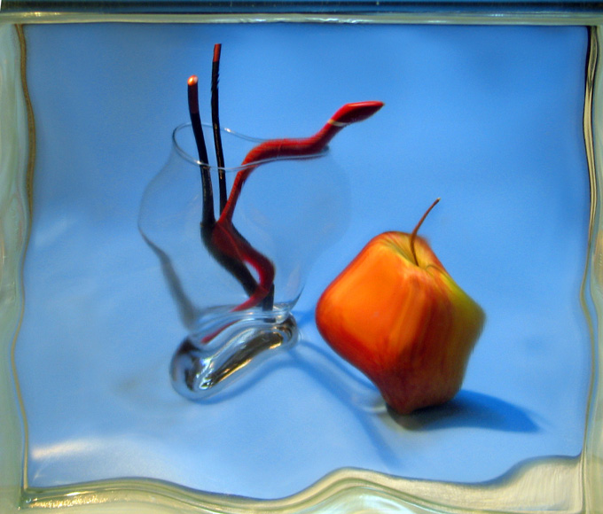 "photo ""Apple and snakes:)"" tags: still life,"