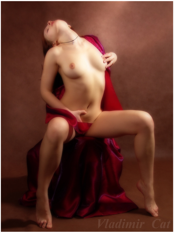 "photo ""Passion on red..."" tags: nude, portrait, woman"